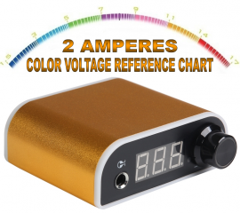 FONTE DIGITAL SPACE LED COLOR VOLTAGE - 2 AMPERES - DOURADA